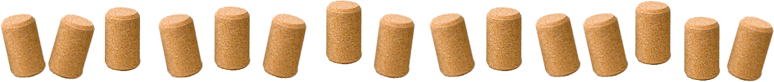 row of corks footer image
