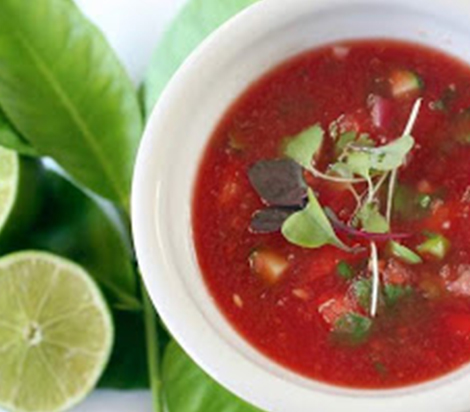 Catherine's Chilled Watermelon Gazpacho